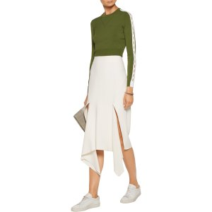 Cropped cutout stretch-knit top | Opening Ceremony | US | THE OUTNET