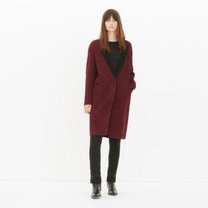 Brighton Coat 女士酒红色羊毛大衣
