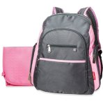 $19 Fisher-Price Ripstop Backpack Diaper Bag, Grey/Pink