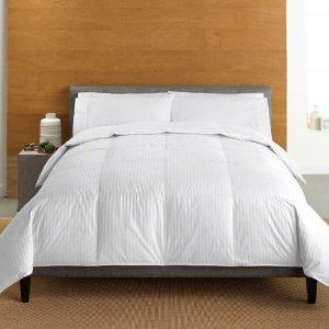 Cuddl Duds 350-Thread Count Level 2 Down Comforter
