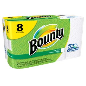 Bounty Paper Towels, Full Sheet, White, 8 Regular Rolls | Jet.com