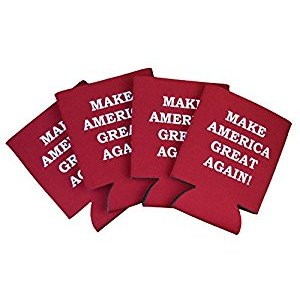 Donald Trump Make America Great Again Can Cooler - 4 pack: Kitchen & Dining