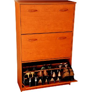 Shoe Cabinet, Triple, Cherry