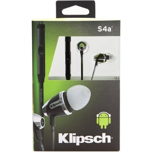 Klipsch Image S4A II In-Ear Enhanced Bass Noise-Isolating Headphones