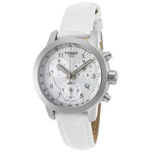 Tissot T0552171603200 Watches,Women's LE PRC 200 Danica Racing Chrono White Genuine Patent Leather, Limited Edition Tissot Quartz Watches