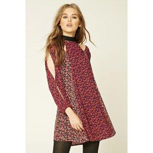 Floral Open-Shoulder Dress