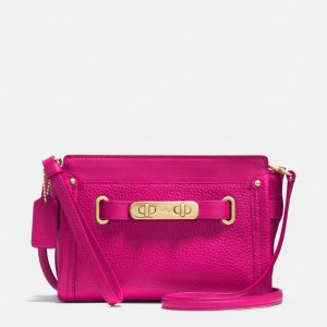 COACH Designer Wristlets | Coach Swagger Wristlet In Pebble Leather