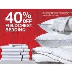 40% Off Fieldcrest bedding