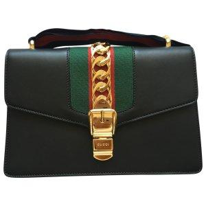 black Leather GUCCI Handbag - Vestiaire Collective