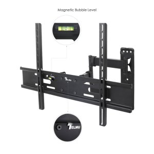 Telmu TV Wall Mount TV Bracket Stand Full Motion Tilts Swivel Stretching Adjustment