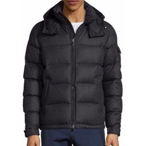 Moncler Wool Quilted Hooded Jacket