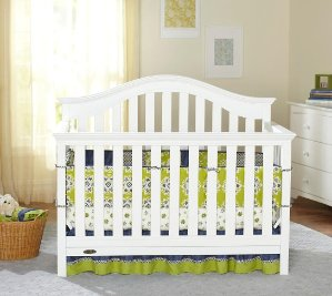 Graco Bryson 4-in-1 Convertible Crib, White