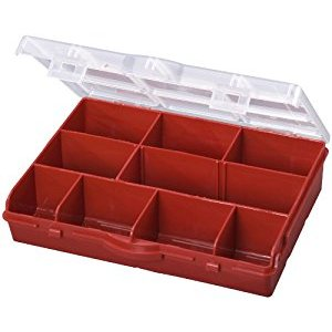Stack-On SBR-10 10 Compartment Storage Organizer Box with Removable Dividers, Red - Garage Shelves - Amazon.com