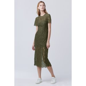 DVF Carly Lace Midi Dress | Landing Pages by DVF