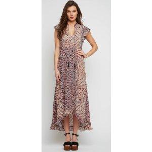 Plenty Hi Low Ruffle Maxi Dress
