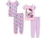 Hello Kitty Baby Infant Girl Cotton Tight Fit Short Sleeve Pajamas, 4-Pieces - Walmart.com