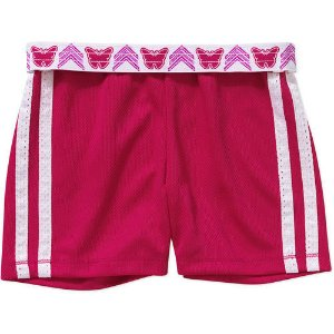 $1.00 Faded Glory Girls' Solid Mesh Shorts