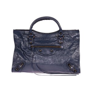Balenciaga Dark Blue Classic City Leather Tote