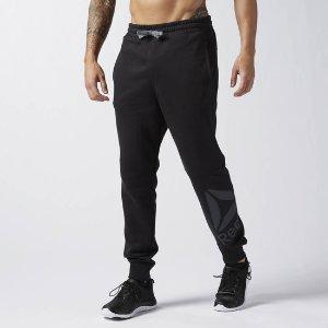 Reebok Workout Ready Big Logo Cotton Pant - Black