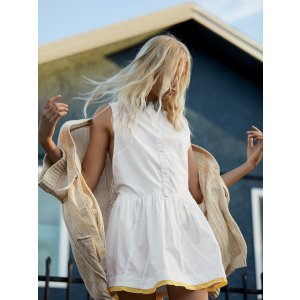 White Hold on Tight Tunic at Free People Clothing Boutique