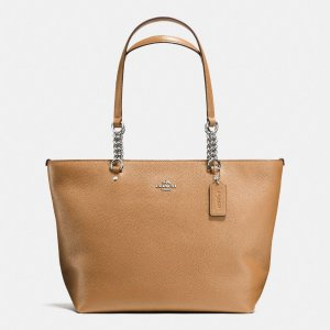 COACH: Sophia Tote In Pebble Leather