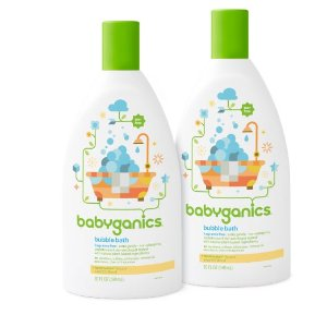 Babyganics Baby Bubble Bath, Fragrance Free, 20oz Bottle, (Pack of 2) , Prime Member Only