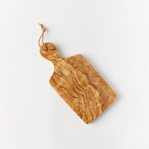 Olive Wood Paddle Cutting Board | west elm