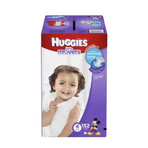 $23.36Huggies Little Movers Diapers, Size 4, 152 Count (One Month Supply)