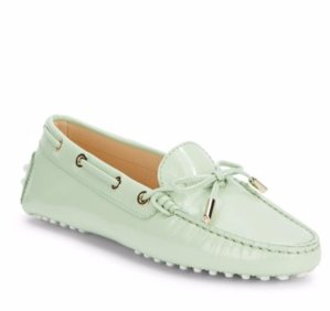 $299.99(原价$445) 流行色系单品收起来!Tod's 草木绿豆豆鞋