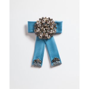 Satin hair clip with crystals
