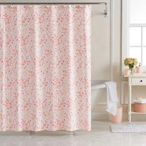 LC Lauren Conrad Sprig Leaf Shower Curtain