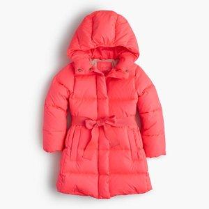 Girls' Tie-Front Puffer Jacket : Girls' Jackets & Coats   J.Crew