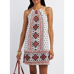 BANDANA PRINT SHIFT DRESS