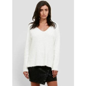 Boucle V-neck Sweater   Kenneth Cole