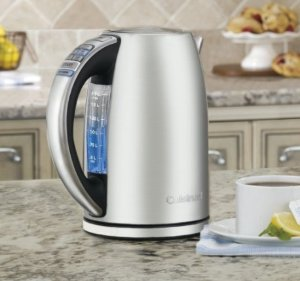 $68.4 Cuisinart CPK-17 PerfecTemp 1.7-Liter Stainless Steel Cordless Electric Kettle