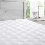ExceptionalSheets Mattress Pad with Fitted Skirt - Extra Plush Topper Found in Marriott Hotels - Made in the USA, Queen