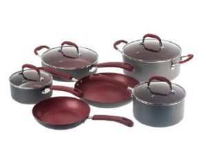 Bella 10-Piece Hard Anodized Ceramic Cookware