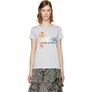 Kenzo Grey Hot Dog T-Shirt
