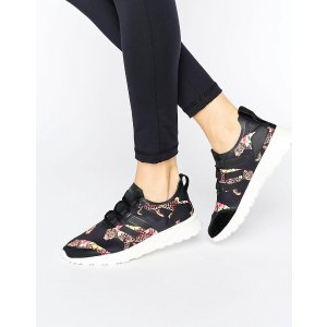 Adidas   adidas Originals X Farm Multi Leopard Print Zx Flux Sneakers