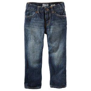 Kid Boy Straight Jeans - Authentic Tinted | OshKosh.com