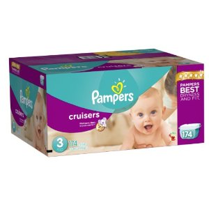 $23.59 + Free Shipping Pampers Cruisers Diapers Economy Plus Pack, Size 3, 174 Count