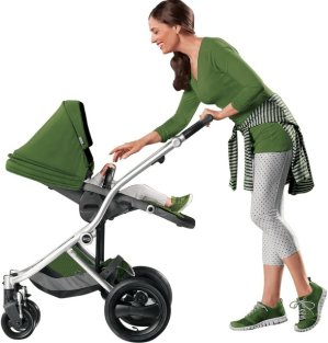 Britax Affinity Stroller, Silver/Cactus Green