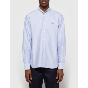 Maison Kitsune Oxford Embroidery Shirt
