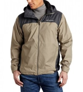 $27.99 Columbia Men's Glennaker Lake Front-Zip Rain Jacket with Hideaway Hood