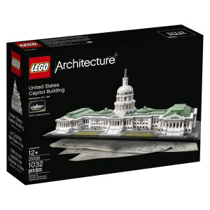 Lowest price! $71.99 LEGO Architecture United States Capitol Building Kit (1032 Piece)