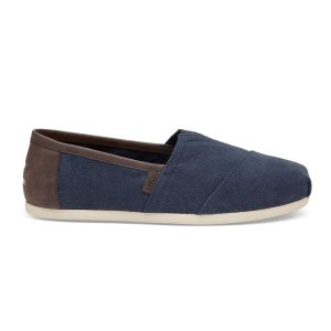 Navy Washed Canvas Men's Classics | TOMS
