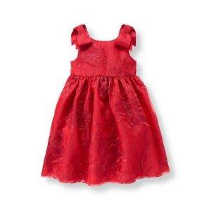 Crimson Floral Organza Dress at JanieandJack