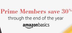 七折!Amazon Basics商品全部七折!仅限Prime会员!