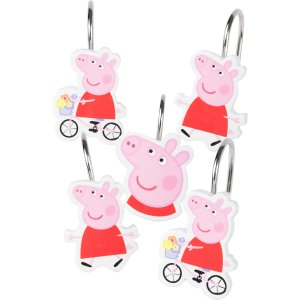 Peppa Pig 'Peppas Pond' Shower Curtain Hooks, Set of 12 - Walmart.com