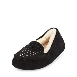 UGG Ansley Pearly Suede Slipper, Black
